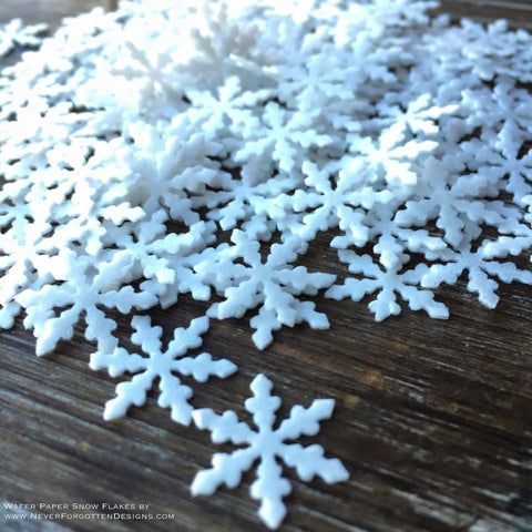 Edible Wafer Paper Snowflakes Sprinkles Flash Dust Glitter Infused