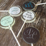 Wedding Monogram Custom Suckers Favors