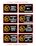 Food Labels for a Tribute Games Party