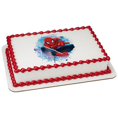 OFFICIALLY LICENSED SPIDERMAN EDIBLE CAKE IMAGE TOPPERS