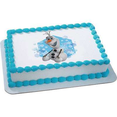 Disney Pixar Frozen Olaf Movie Edible Cake Topper on Frosting Paper - Never Forgotten Designs