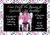 Fashionista Runway Photo Birthday Party Invitation