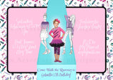Fashionista Runway Photo Birthday Party Invitation - Never Forgotten Designs