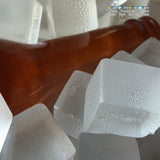 Edible Sugar Isomalt Ice Cubes & Beer Bottle for Cakes