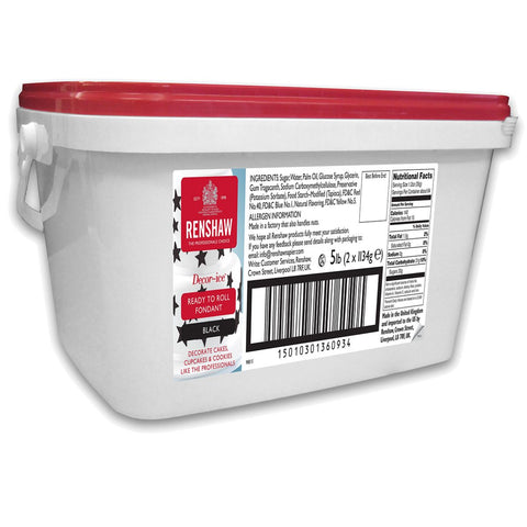 Renshaw Black Fondant Pails 8.8 Oz. to 5 lbs.