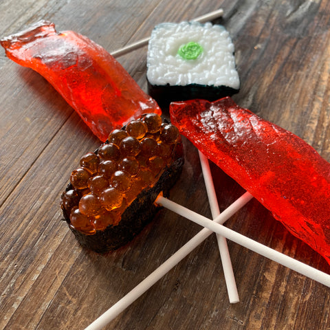 Sushi Candy Lollipop 3 Piece Set