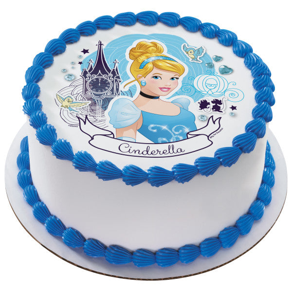 cupcakes cookies and more Cinderella Edible icing frosting sugar sheet Edoble cake topper Disney Princess cakes