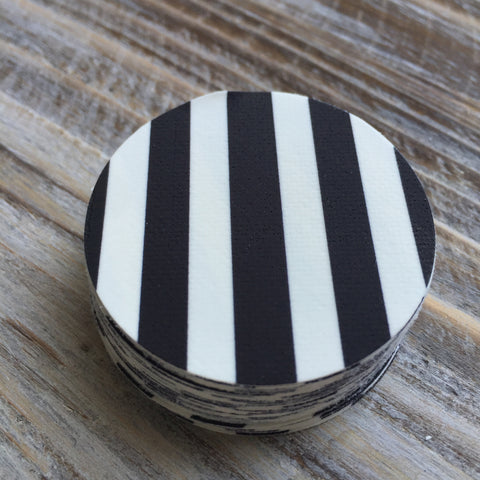 Black & White Striped Edible Pre-Cut Images