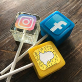 Social Media App Party Sucker Lollipop Candy Favors