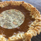 Mini Pumpkin Pie Edible Image Toppers