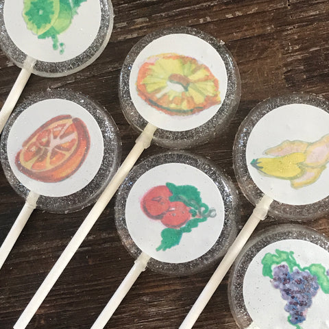 Lickable Wallpaper Custom Lollipop Wonka Party Favors