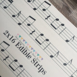 Custom Edible Image Music Scale Cake Wraps - Never Forgotten Designs