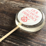 Custom Image Hard Candy Sucker Lollipops
