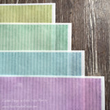 Colorful Pinstripe Designs on Edible on Wafer Paper - Never Forgotten Designs
