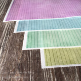 Colorful Pinstripe Designs on Edible on Wafer Paper