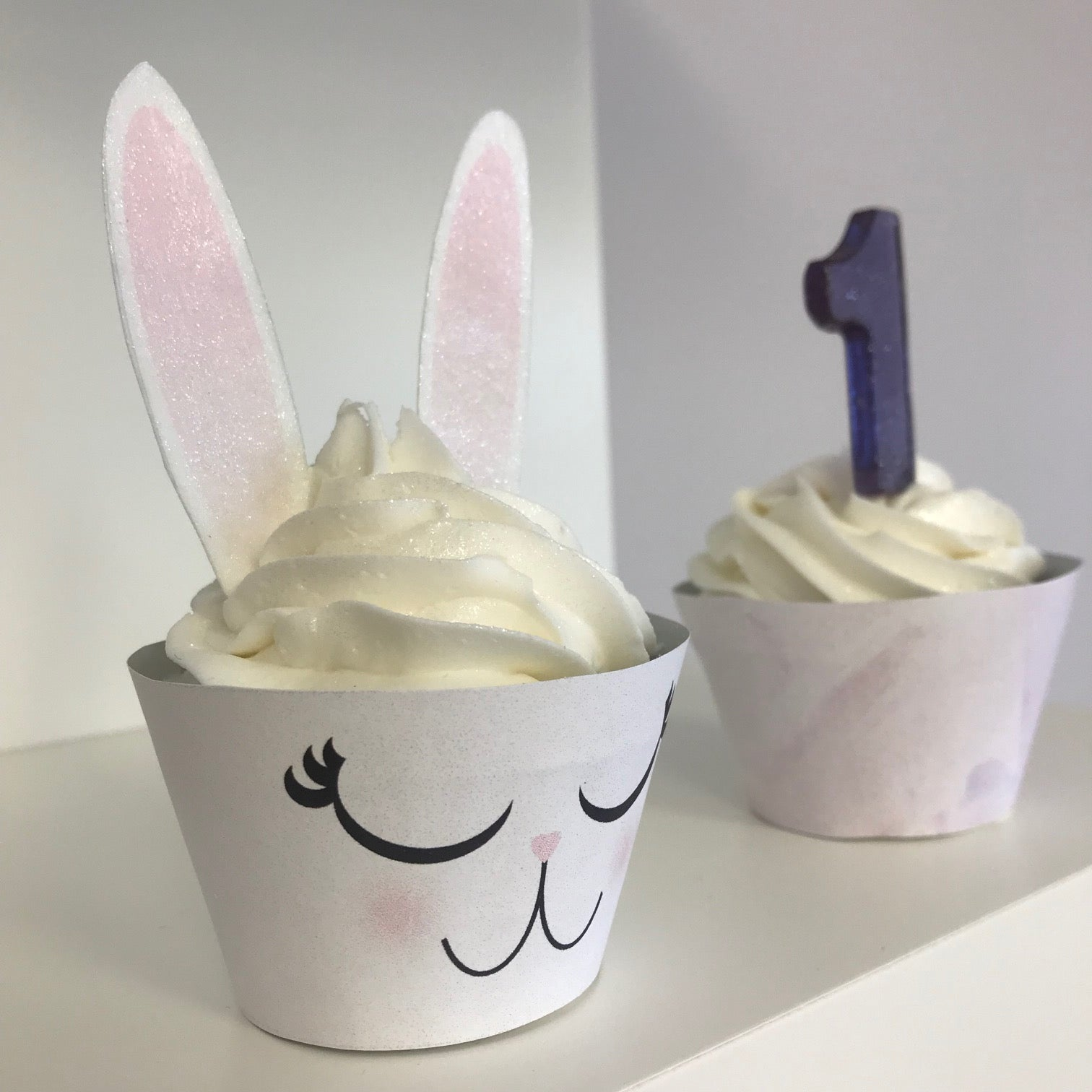 Edible Bunny Standup Ears Cupcake Toppers