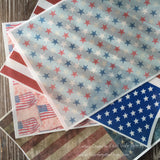 Edible Patriotic American Flag Designs on Wafer Paper - Never Forgotten Designs