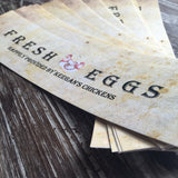 Economic Printed Custom Egg Carton Labels Personalized with Your Information
