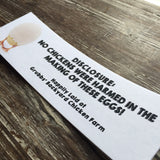 Egg Definition Economic Printed Custom Egg Carton Labels Personalized with Your Information