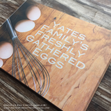 Eggs and Whisk Freshly Eggs Designer Egg Carton Labels with Premium Printing - Never Forgotten Designs