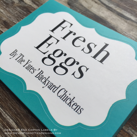 Premium Printed Custom Egg Carton Labels Personalized with Your ...