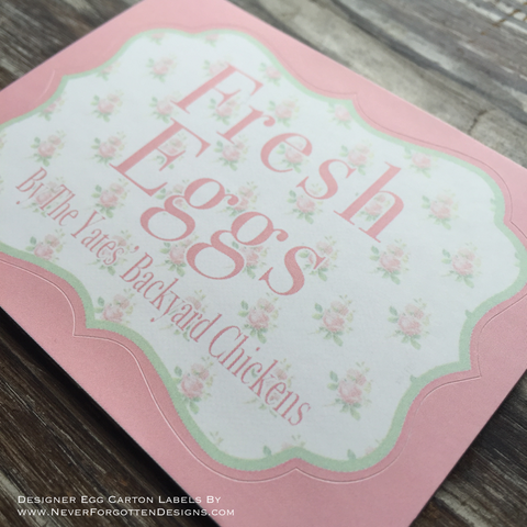 Shabby Chic Banners Designer Egg Carton Labels with Premium Printing - Never Forgotten Designs