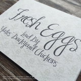 Premium Printed Custom Egg Carton Labels Personalized with Your Information - Never Forgotten Designs
