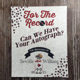 For the Record Wedding Signage - Never Forgotten Designs