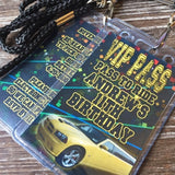 COMPLETE VIP INVITAITON BADGES FOR PARTY LIMO BUS EVENTS