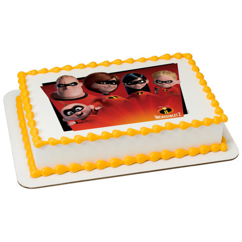 Officially Licensed Incredibles 2 Edible Cake Image Toppers