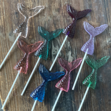 Little Mermaid Tail Candy Sucker Lollipop Favors Set