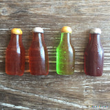 Mini 1.75 Inch Hard Candy Sugar Beer Bottle Cupcake Topper
