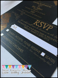 Custom Flat Card Wedding Invitation Sets - Never Forgotten Designs