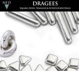 Silver & Gold Rods Dragees Sprinkles