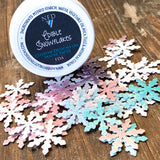 Bulk Order Edible Snowflakes Sprinkles Infused with Flash Dust Glitter for Food & Drinks
