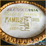 Personalized Edible Image for Pumpkin Pies on Frosting Paper