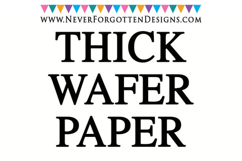 Thick Cardstock Wafer Paper