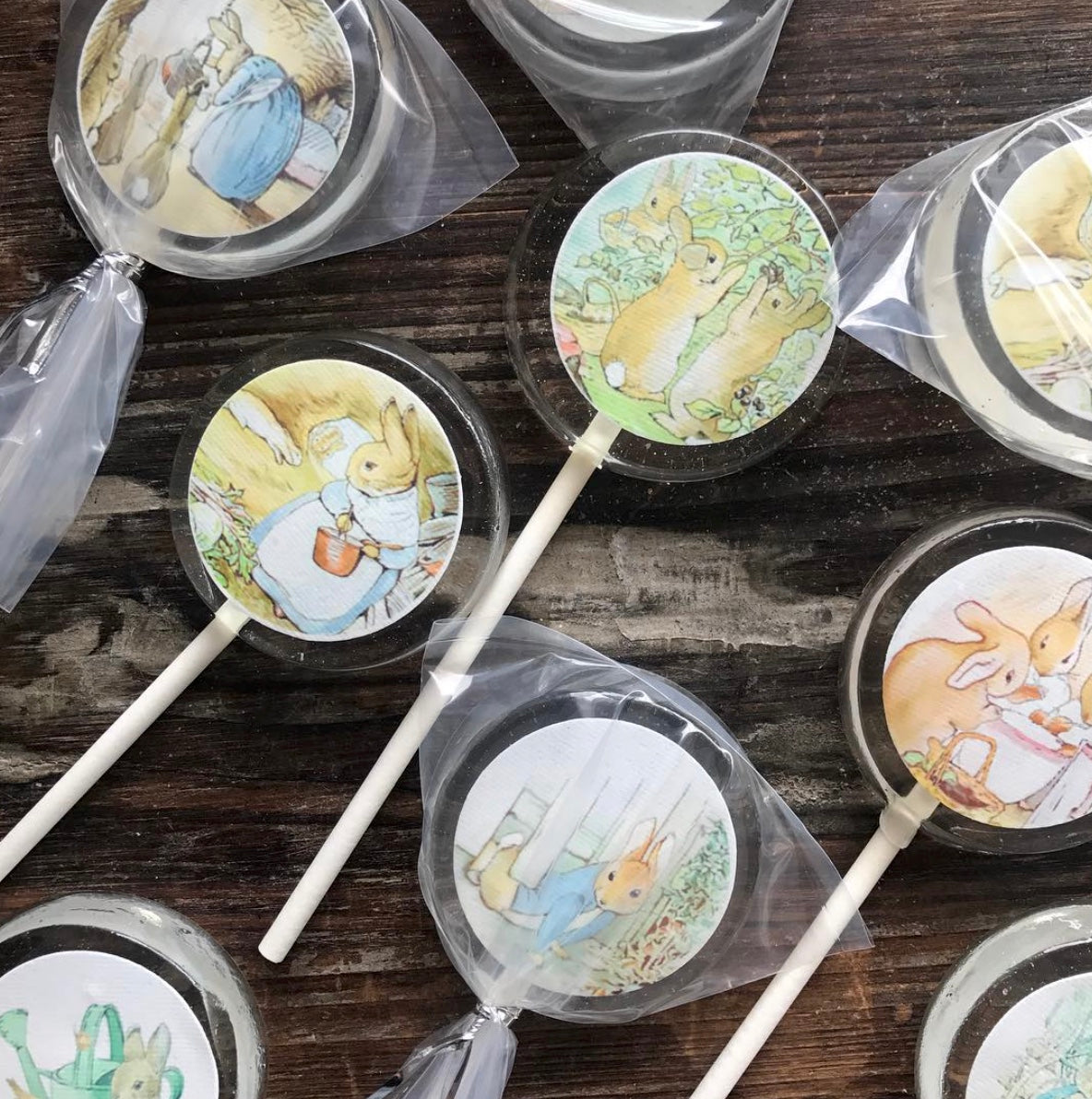 Peter Rabbit Themed Hard Candy Lollipop Party Favors
