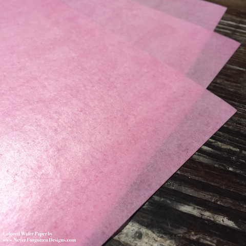 Fully Colored Pink Wafer Paper