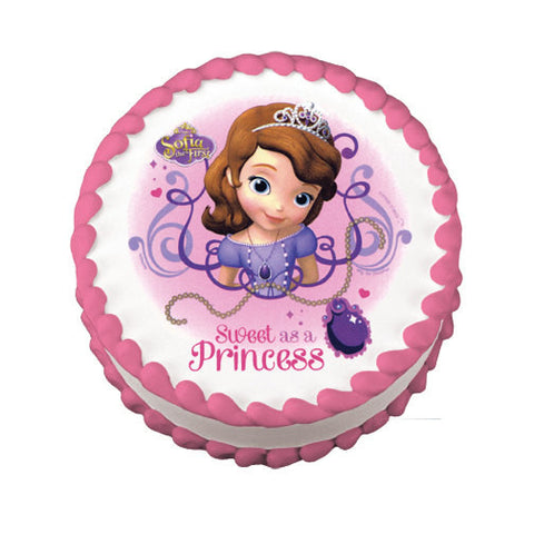 Sofia The First Edible Cake Topper On Frosting Paper Never Forgotten Designs