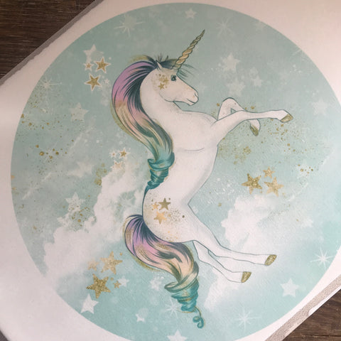 Unicorn Round Cake Topper