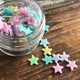 Colorful Star Glitter Fun Food Sprinkles© by Never Forgotten Designs