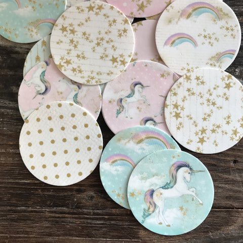 Magical Unicorn Pegasus Edible Frosting Images