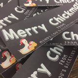 Merry Chickmas Christmas Egg Carton Labels