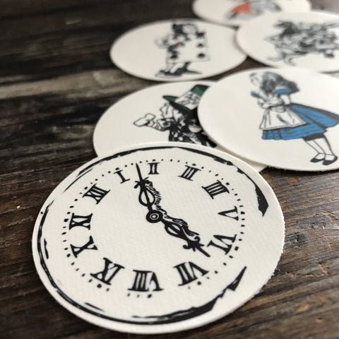Alice in Wonderland Cupcake Cookie Toppers