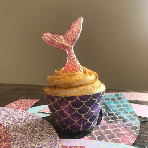 Mermaid Scale Cupcake Wraps