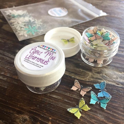 Edible Butterflies in Reclosable Container