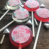 Valentine's Day Sucker Lollipop Favors