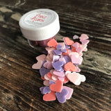 Edible Heart Fun Food Sprinkles