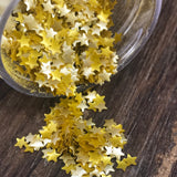 Edible Mini Gold Stars Glitter Sprinkles